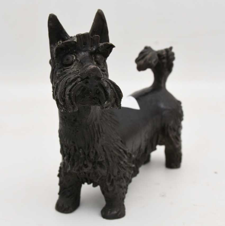 """SCHNAUZER"", bronze figure, 1. Half of the 20. Century - photo 2"