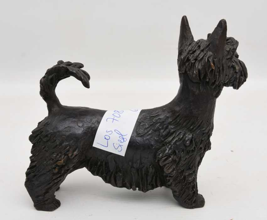 """SCHNAUZER"", bronze figure, 1. Half of the 20. Century - photo 3"