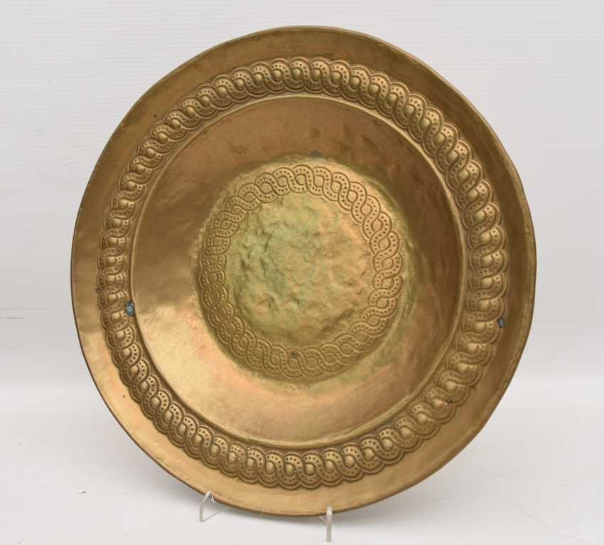 Eller ADORNS, brass engraved/ornamented, marked, North Africa 1. Half of the 20. Century - photo 1