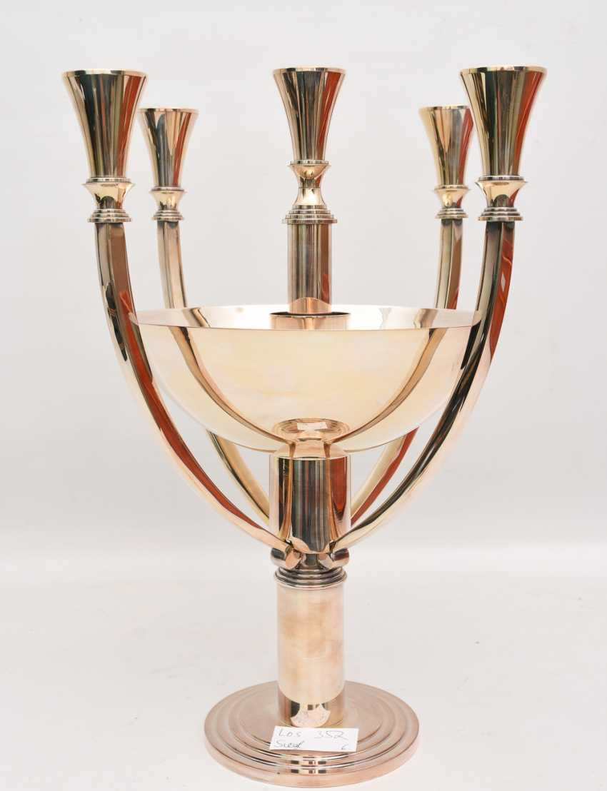 WMF GASTRO candle stand, silver plated , marked, with Peel tower, Germany 21. Century - photo 2