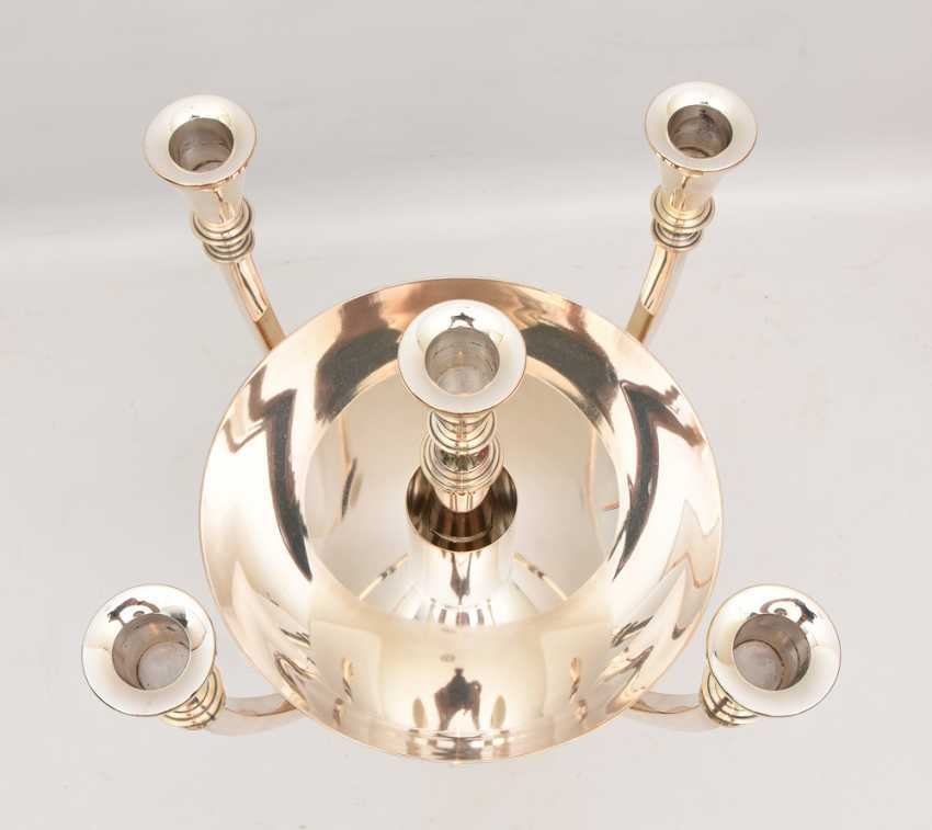 WMF GASTRO candle stand, silver plated , marked, with Peel tower, Germany 21. Century - photo 4