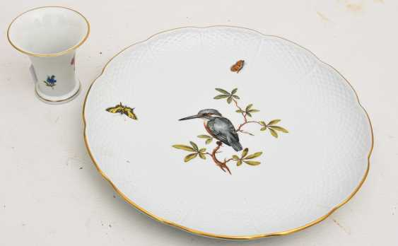 LUDWIGSBURG PORCELAIN VINTAGE, hand-painted, gold-equipped, marked, late 20's. Century - photo 1