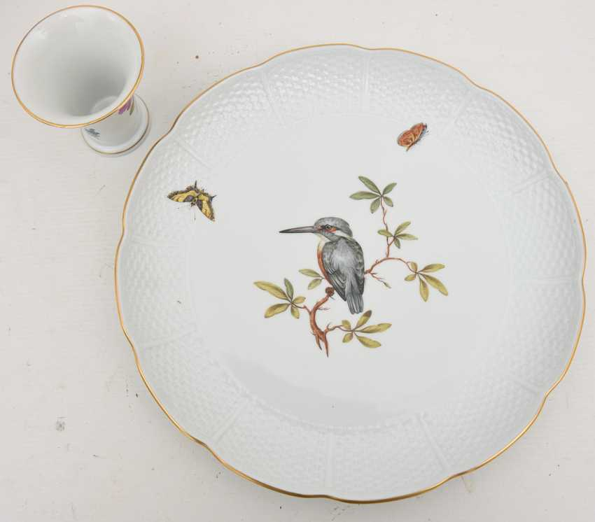 LUDWIGSBURG PORCELAIN VINTAGE, hand-painted, gold-equipped, marked, late 20's. Century - photo 2