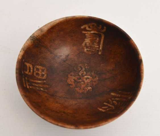 Cult bowls, soapstone, marked, East Asia, around 1900 - photo 1