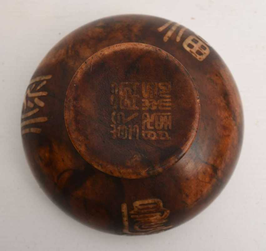 Cult bowls, soapstone, marked, East Asia, around 1900 - photo 2