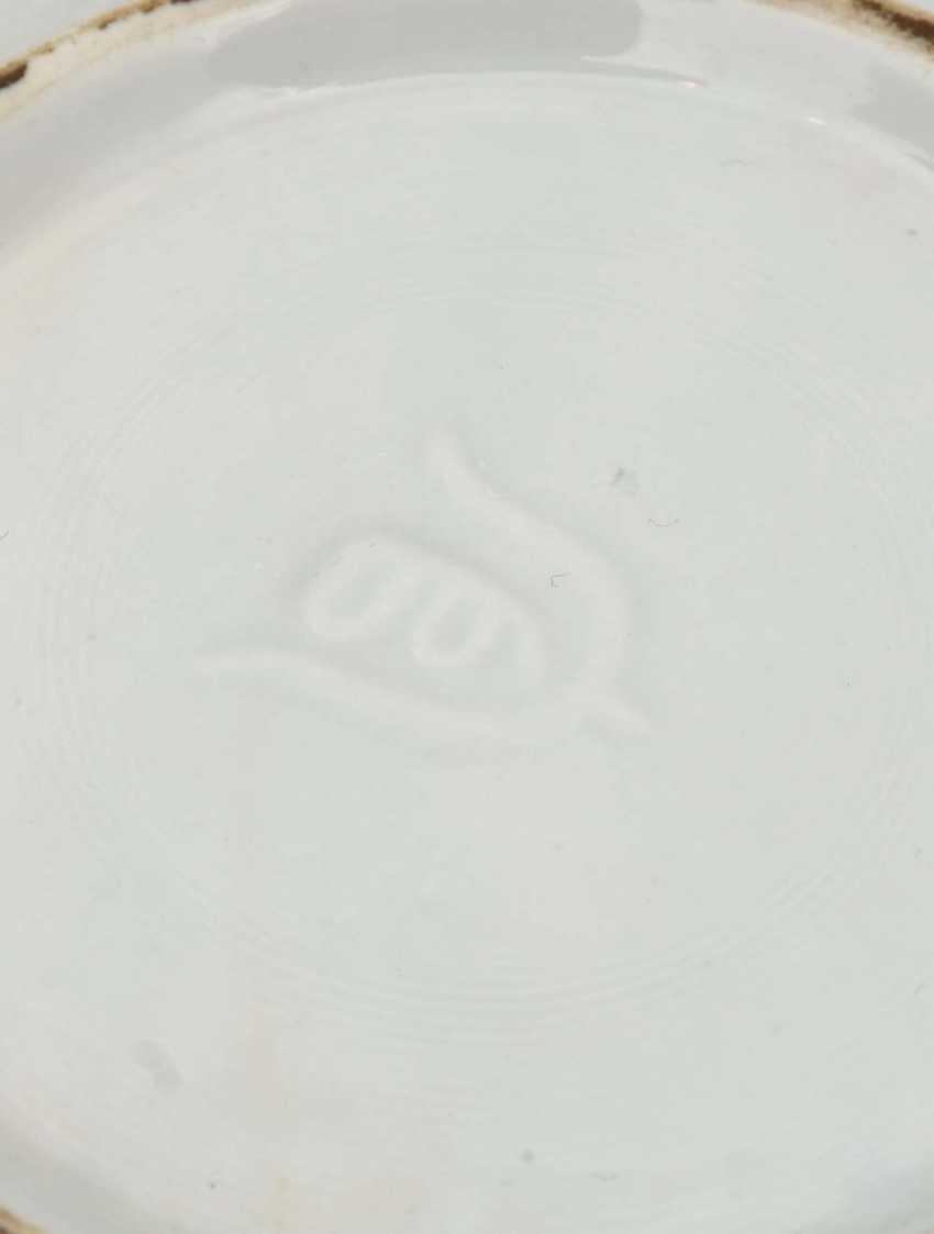 AT HUA hin PLATES, glazed porcelain with polychrome Lithophanie , marked,, China, 19./20. Century - photo 4