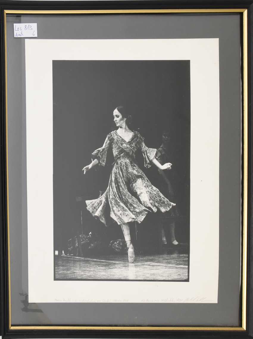 """MARCIA HAYDÉE: CARMEN 1988"", photographic print on cardboard paper, behind glass framed, with dedication and signed - photo 1"