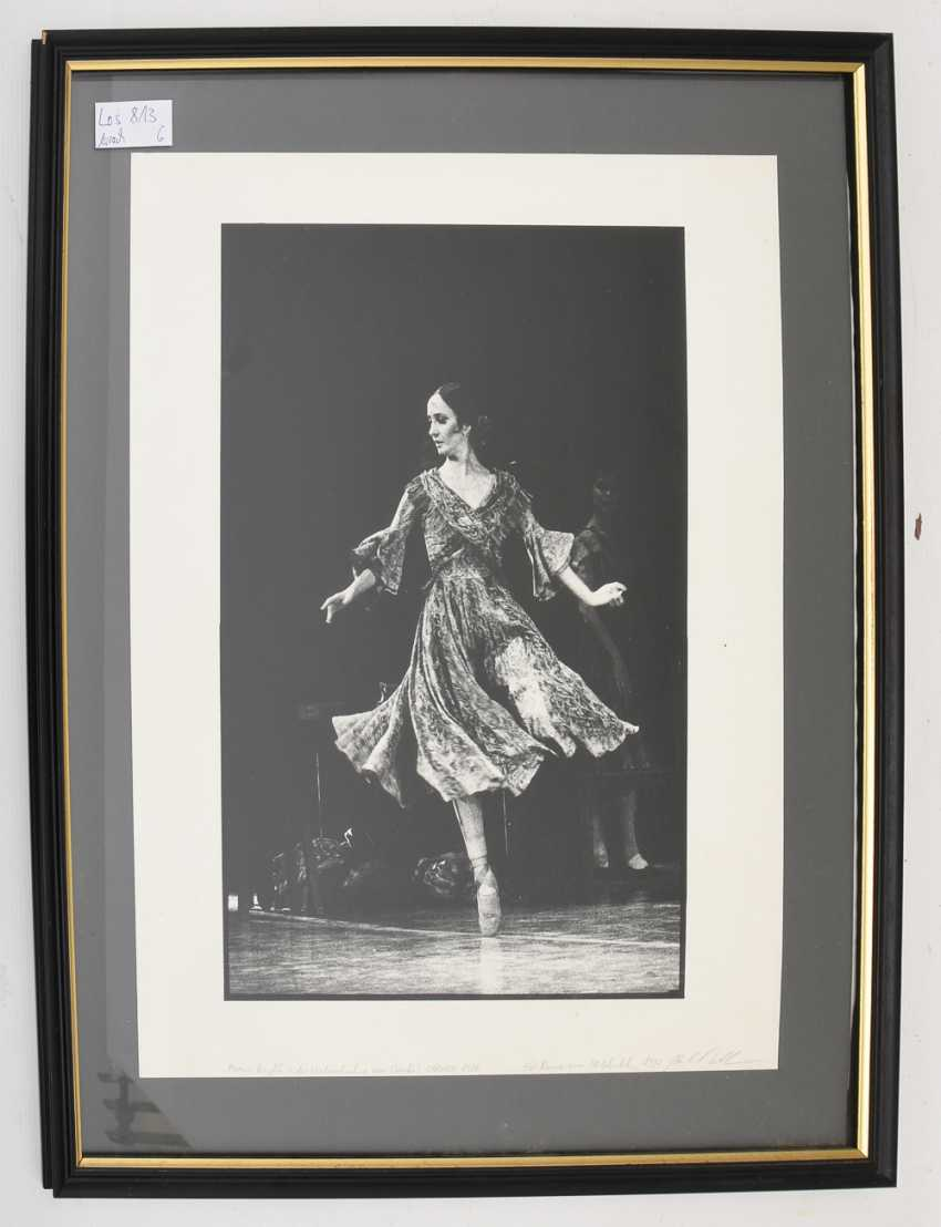 """MARCIA HAYDÉE: CARMEN 1988"", photographic print on cardboard paper, behind glass framed, with dedication and signed - photo 2"
