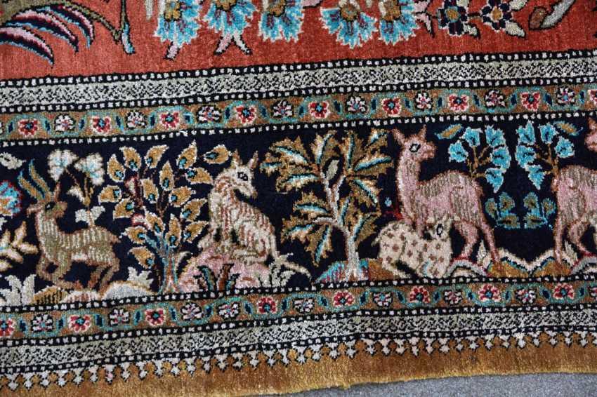 Hunting carpet KUN, silk on silk Orient 20. Century - photo 6