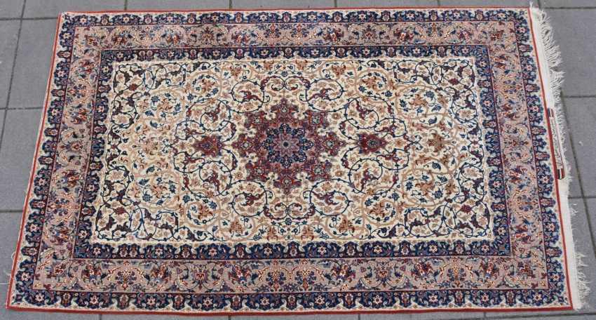 ISFAHAN, Dastur Sadegh Serafian, silk, signed, Central Iran 20. Century - photo 1