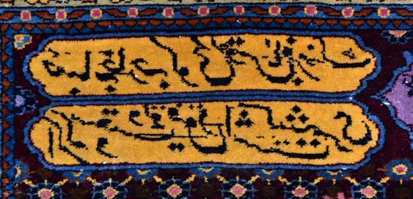 KESHAN prayer rug, silk, signed, Central Iran 20. Century - photo 7