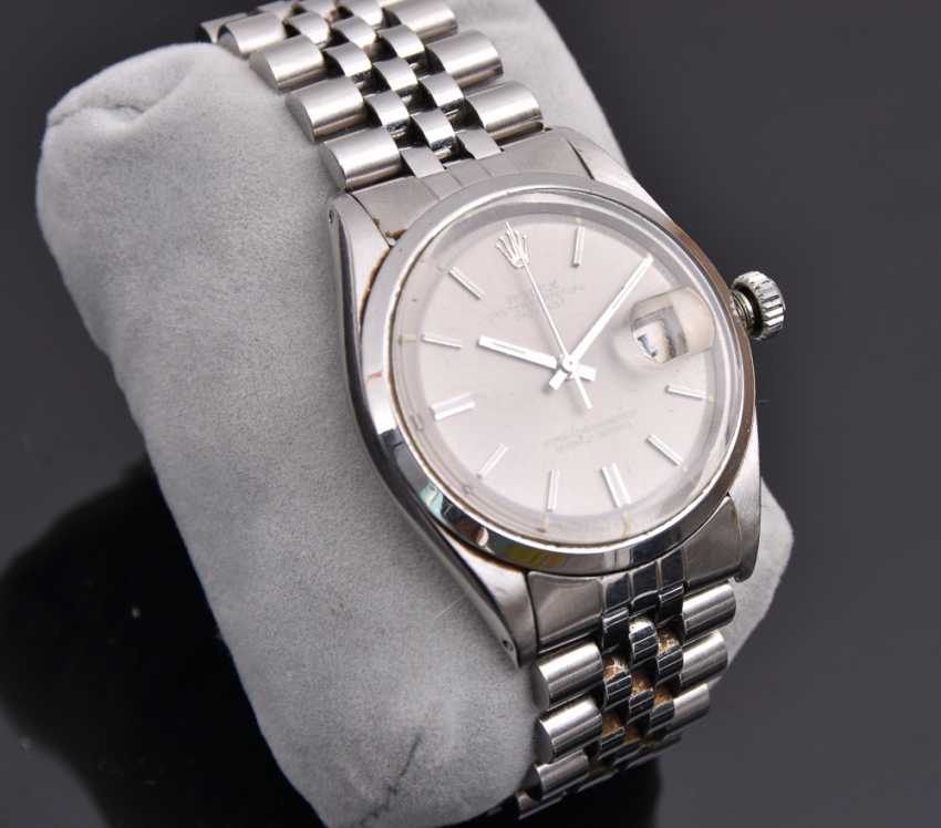 ROLEX OYSTER PERPETUAL DATEJUST watch, Unisex wrist watch, stainless steel, 1965 - photo 1