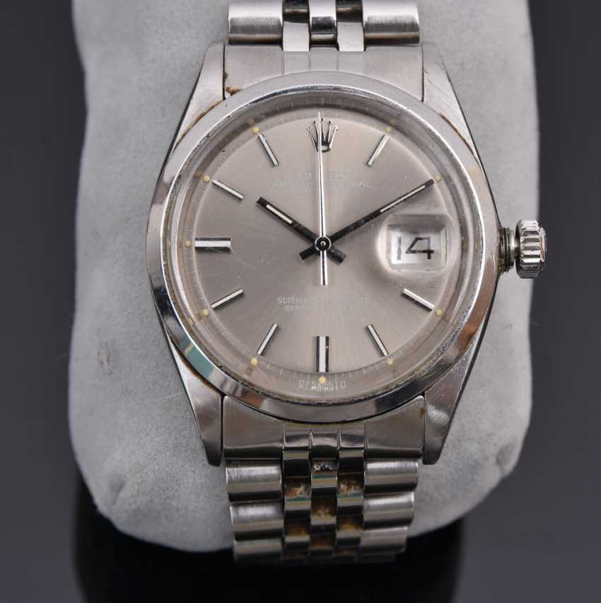 ROLEX OYSTER PERPETUAL DATEJUST watch, Unisex wrist watch, stainless steel, 1965 - photo 2