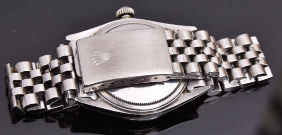 ROLEX OYSTER PERPETUAL DATEJUST watch, Unisex wrist watch, stainless steel, 1965 - photo 3