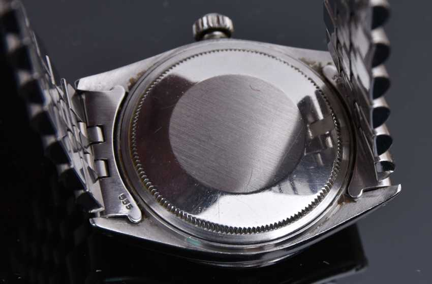ROLEX OYSTER PERPETUAL DATEJUST watch, Unisex wrist watch, stainless steel, 1965 - photo 4
