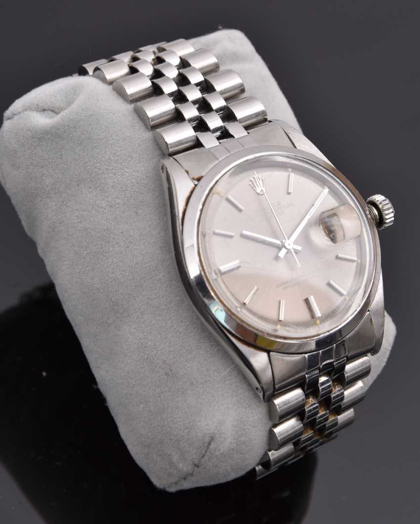 ROLEX OYSTER PERPETUAL DATEJUST watch, Unisex wrist watch, stainless steel, 1965 - photo 7