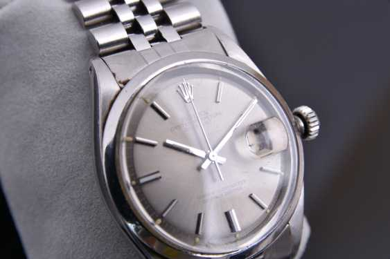 ROLEX OYSTER PERPETUAL DATEJUST watch, Unisex wrist watch, stainless steel, 1965 - photo 8