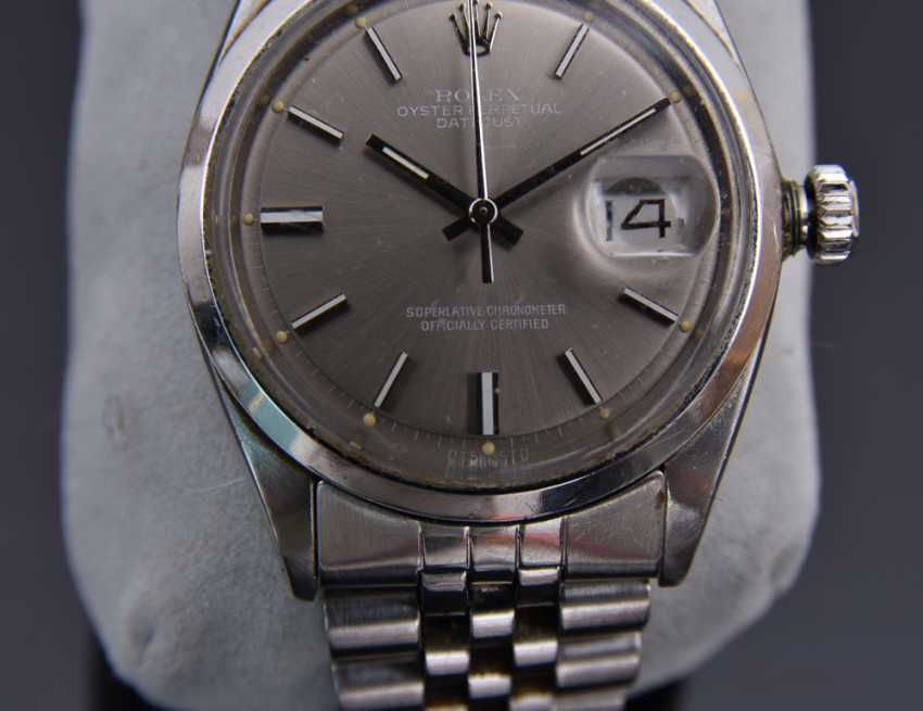 ROLEX OYSTER PERPETUAL DATEJUST watch, Unisex wrist watch, stainless steel, 1965 - photo 9