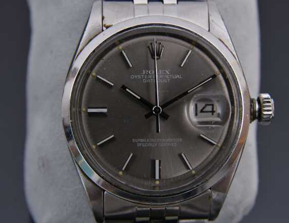 ROLEX OYSTER PERPETUAL DATEJUST watch, Unisex wrist watch, stainless steel, 1965 - photo 10