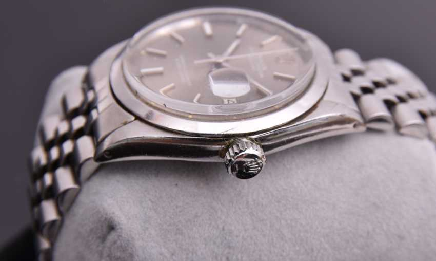 ROLEX OYSTER PERPETUAL DATEJUST watch, Unisex wrist watch, stainless steel, 1965 - photo 12