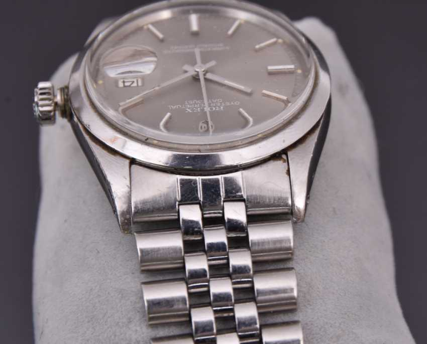 ROLEX OYSTER PERPETUAL DATEJUST watch, Unisex wrist watch, stainless steel, 1965 - photo 14