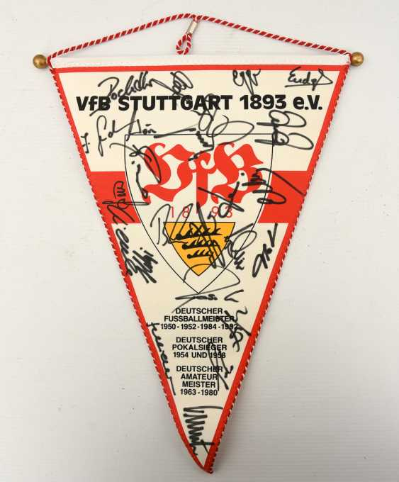VFB PENNANT 2, with signatures, 1990s - photo 1