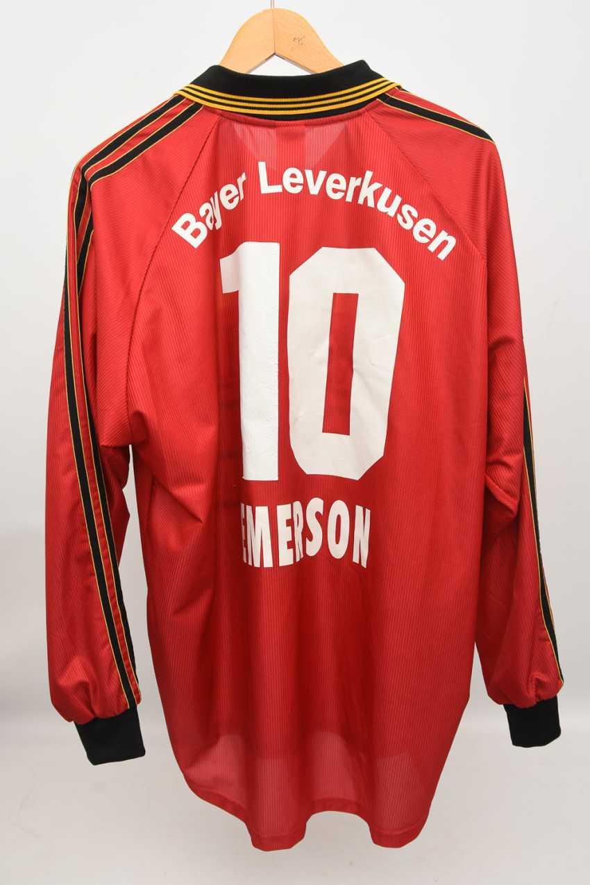 JERSEY BAYER LEVERKUSEN, EMERSON, No. 10, Adidas,signed, 2002 - photo 1