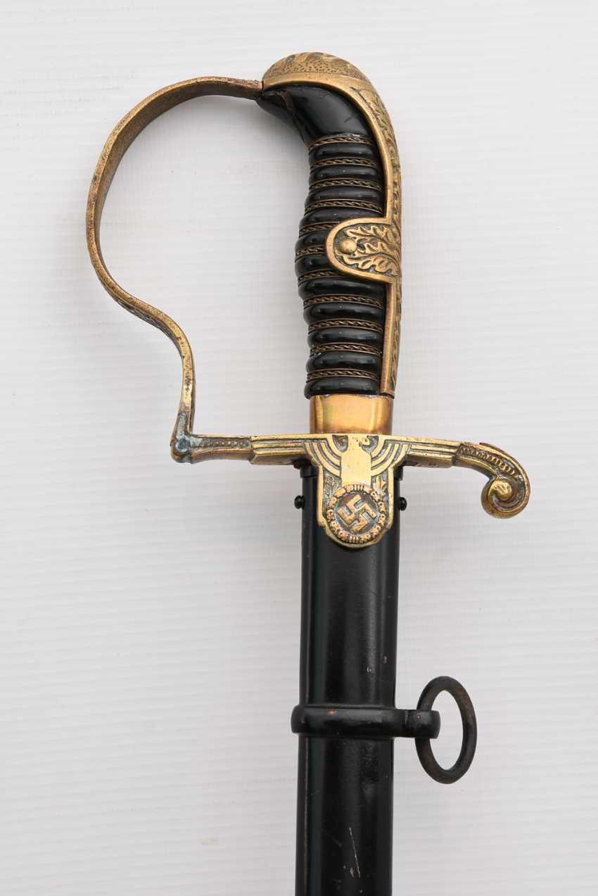 Officer's sabre of the WEHRMACHT, steel/brass/iron painted , the Third Reich in the 1940s - photo 6