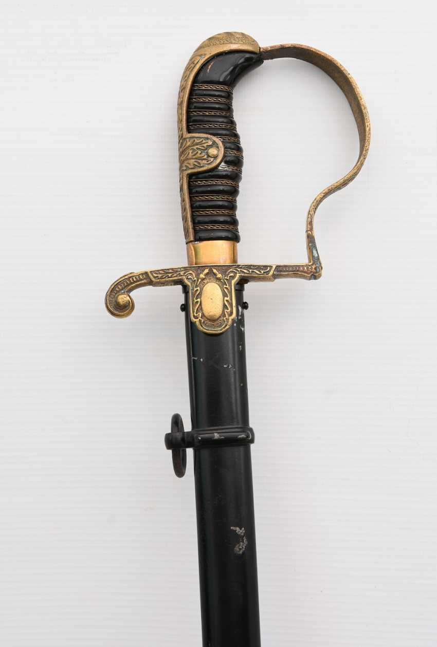 Officer's sabre of the WEHRMACHT, steel/brass/iron painted , the Third Reich in the 1940s - photo 7