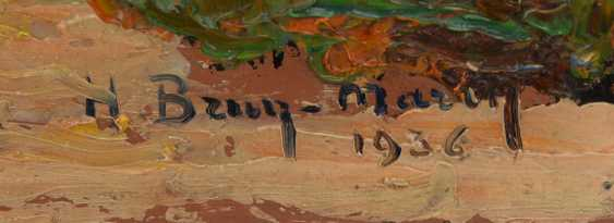 """UNKNOWN ARTIST: """"pilgrimage Shrine ON the ROADSIDE"""", Oil on wood panel, signed and dated - photo 2"""