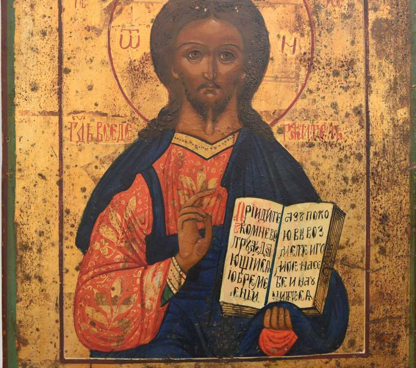 Christ icon 2; egg tempera on wood, Russia, 19./20. Century - photo 2