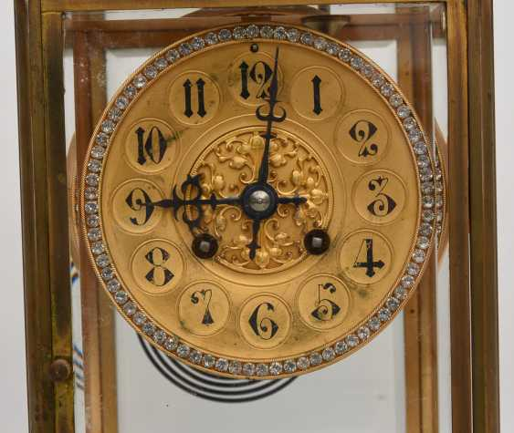 JAPY FRÈRES: pendulum CLOCK, brass/glass, France at the end of 18. Century - photo 2