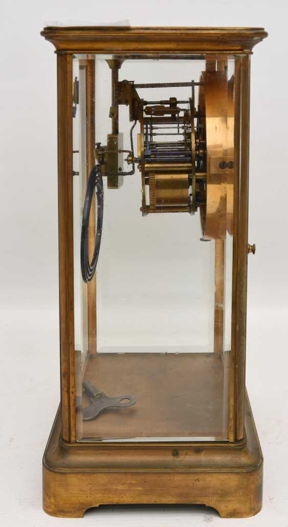 JAPY FRÈRES: pendulum CLOCK, brass/glass, France at the end of 18. Century - photo 5