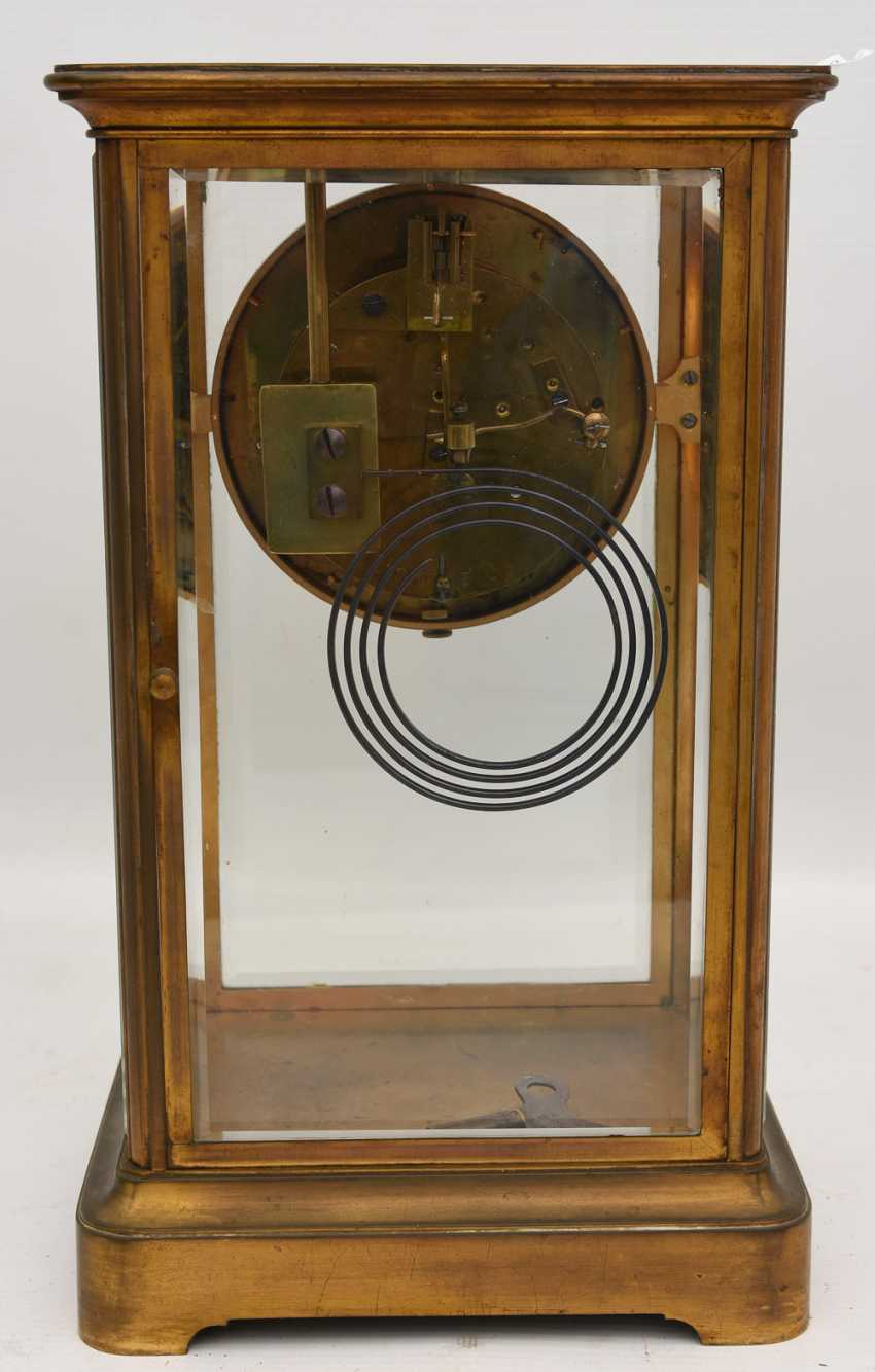 JAPY FRÈRES: pendulum CLOCK, brass/glass, France at the end of 18. Century - photo 6