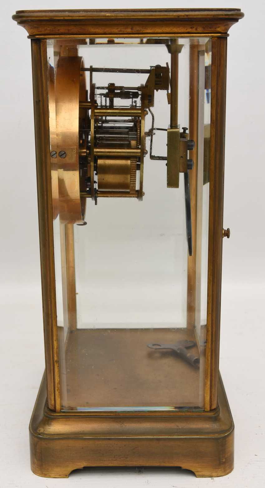 JAPY FRÈRES: pendulum CLOCK, brass/glass, France at the end of 18. Century - photo 7