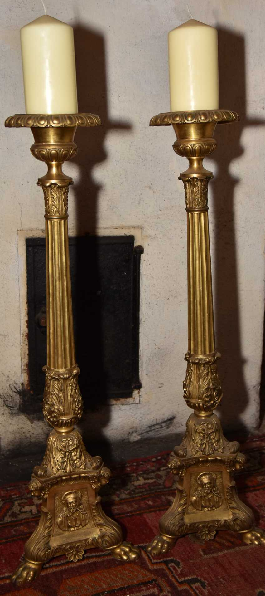 TWO Church chandeliers, brass southern Germany, around 1875 - photo 2