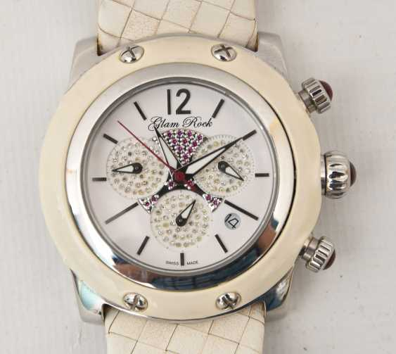 GLAM ROCK women's WATCH WHITE stainless steel/leather, 2000 - photo 2