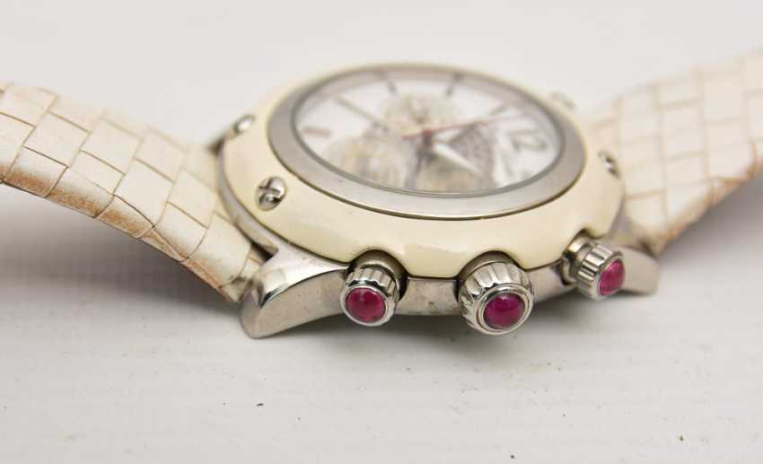 GLAM ROCK women's WATCH WHITE stainless steel/leather, 2000 - photo 3