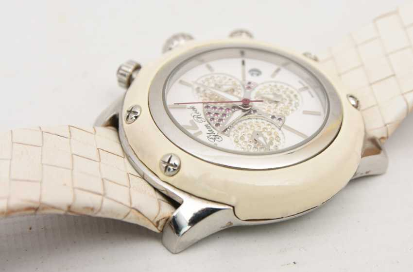 GLAM ROCK women's WATCH WHITE stainless steel/leather, 2000 - photo 4