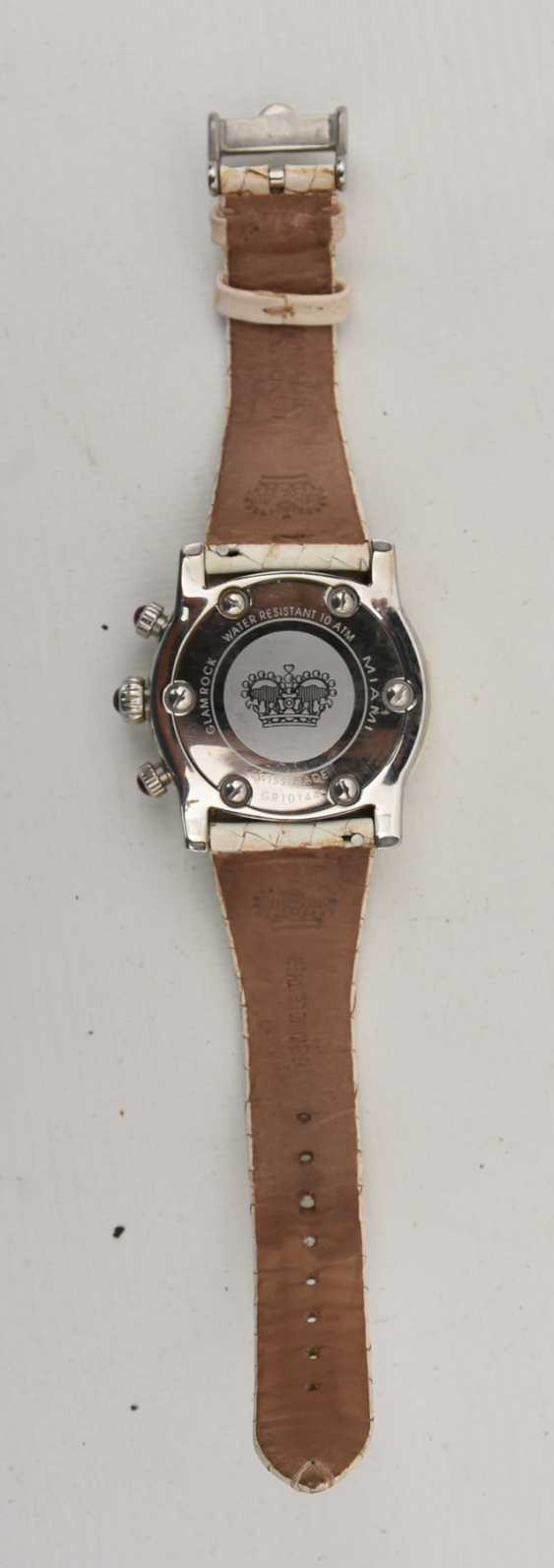 GLAM ROCK women's WATCH WHITE stainless steel/leather, 2000 - photo 5