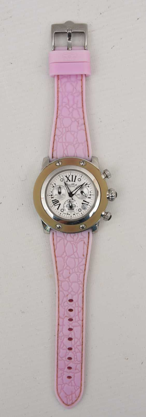 GLAM ROCK women's WATCH PINK, stainless steel/silicone, around 2000 - photo 1