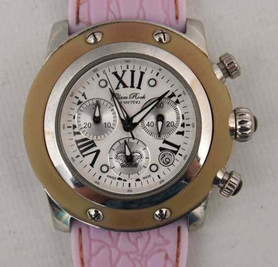 GLAM ROCK women's WATCH PINK, stainless steel/silicone, around 2000 - photo 2