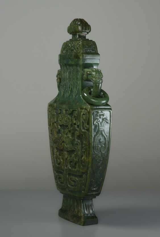 ELEGANT LIDDED VASE WITH DRAGONS - photo 3