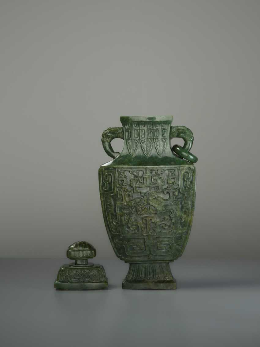 ELEGANT LIDDED VASE WITH DRAGONS - photo 4