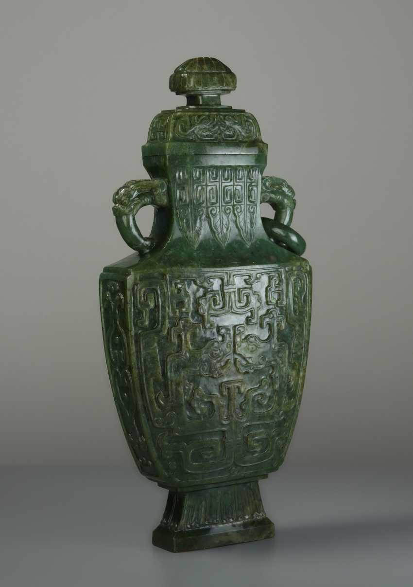 ELEGANT LIDDED VASE WITH DRAGONS - photo 2