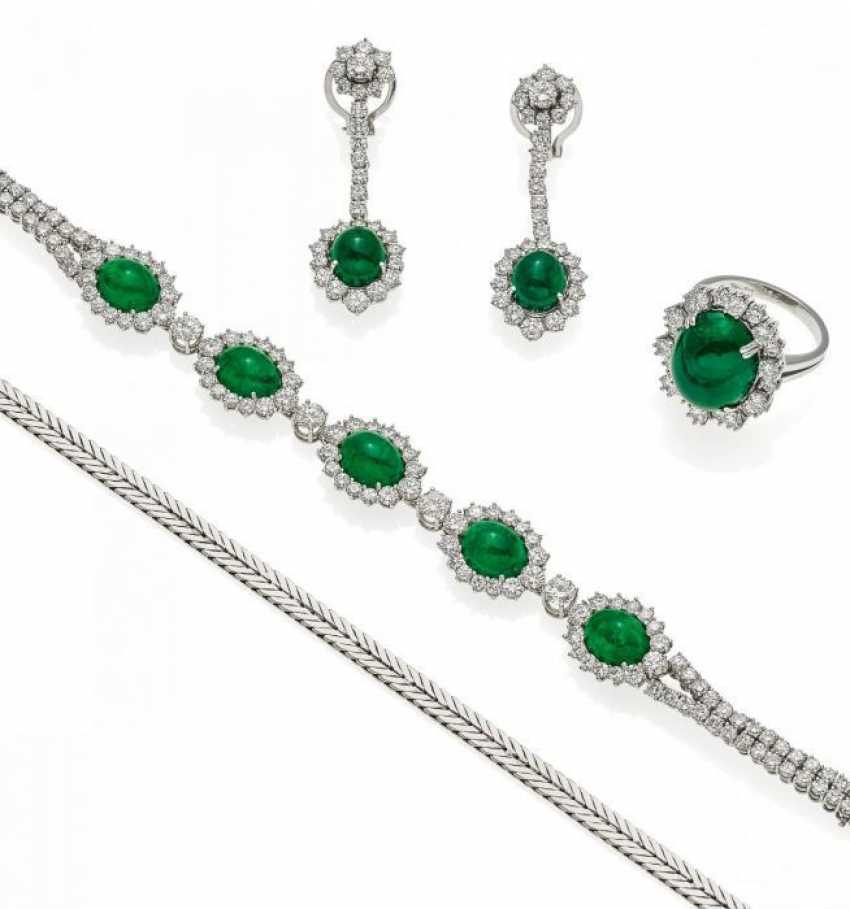 EMERALD AND DIAMOND SET. Düsseldorf, 1960.  - photo 1