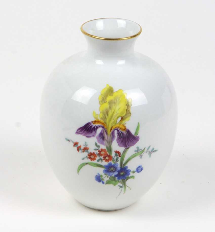Meissen Vase Flower 3 Lot 1278