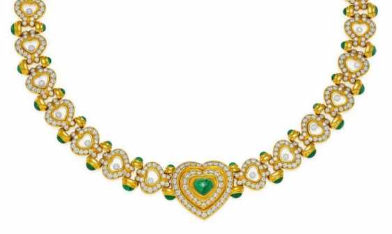 CHOPARD Happy Diamonds. Emerald And Diamond Collier. Switzerland, around 2010.