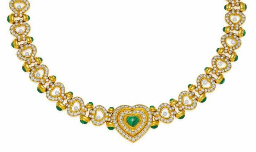 CHOPARD Happy Diamonds. Emerald And Diamond Collier. Switzerland, around 2010. - photo 1
