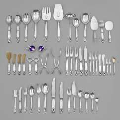 Extensive Georg Jensen Flatware Service